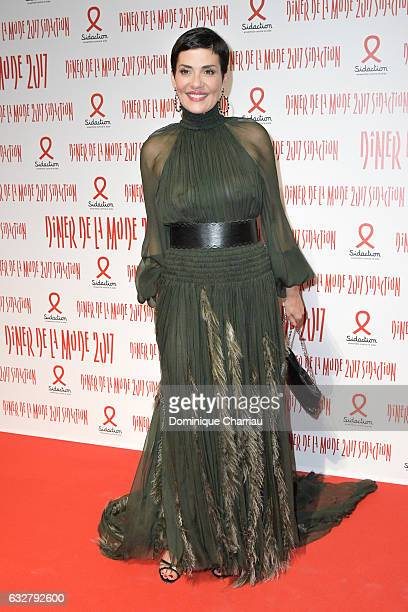 Cristina Cordula attends the Sidaction Gala Dinner 2017 as part of Paris Fashion Week on January 26 2017 in Paris France