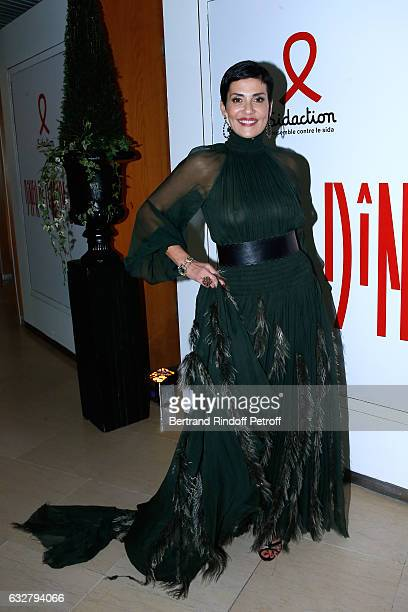 Cristina Cordula attends the Sidaction Gala Dinner 2017 Haute Couture Spring Summer 2017 show as part of Paris Fashion Week on January 26 2017 in...