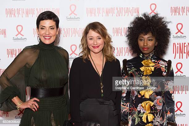 Cristina Cordula Daniela Lumbroso and Inna Modja attend the Sidaction Gala Dinner 2017 as part of Paris Fashion Week on January 26 2017 in Paris...