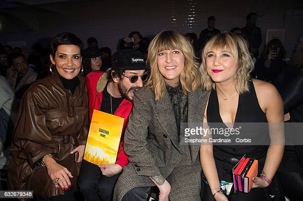Cristina Cordula Gunther Love Daphne Burki and Berengere Krief attend the Jean Paul Gaultier Haute Couture Spring Summer 2017 show as part of Paris...