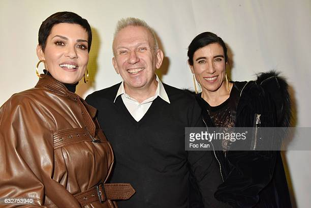 Cristina Cordula Jean Paul Gaultier and Blanca Li attend the Jean Paul Gaultier Haute Couture Spring Summer 2017 show as part of Paris Fashion Week...
