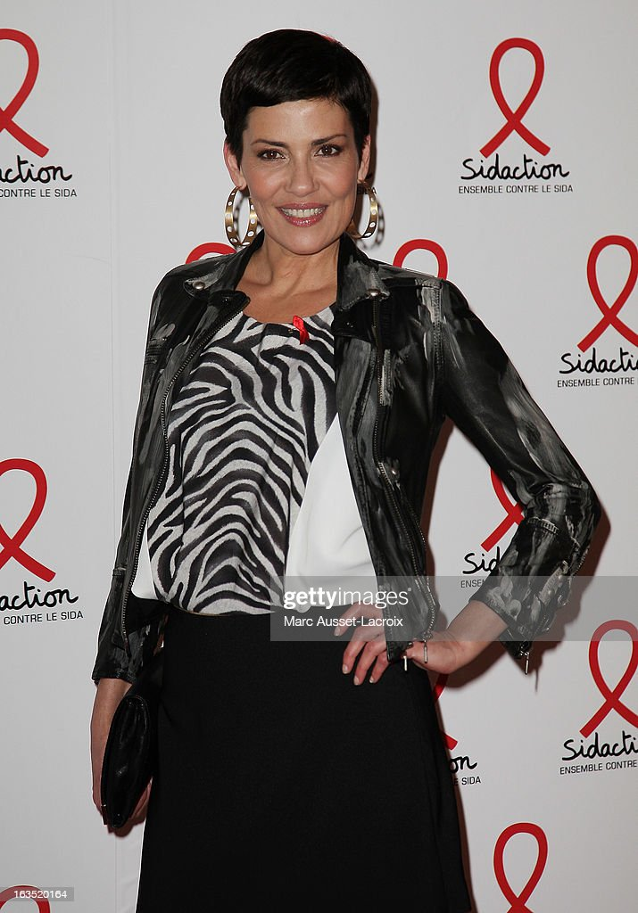 Cristina Cordula poses during the Sidaction 2013 - Photocall at Musee du Quai Branly on March 11, 2013 in Paris, France.