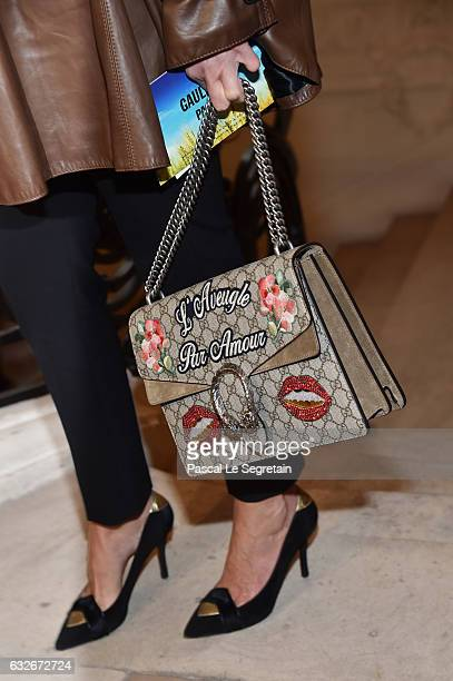 Cristina Cordulabag detailattends the Jean Paul Gaultier Haute Couture Spring Summer 2017 show as part of Paris Fashion Week on January 25 2017 in...
