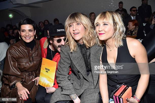 Cristina CordulaGunther LovaDaphne Burki and Berangere Krief attend the Jean Paul Gaultier Haute Couture Spring Summer 2017 show as part of Paris...
