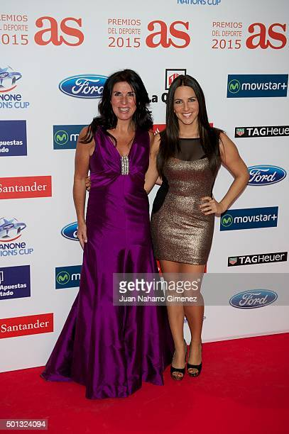 Cristina Cubero and Irene Junquera attend 'As Del Deporte' awards 2015 photocall at Palace Hotel on December 14 2015 in Madrid Spain
