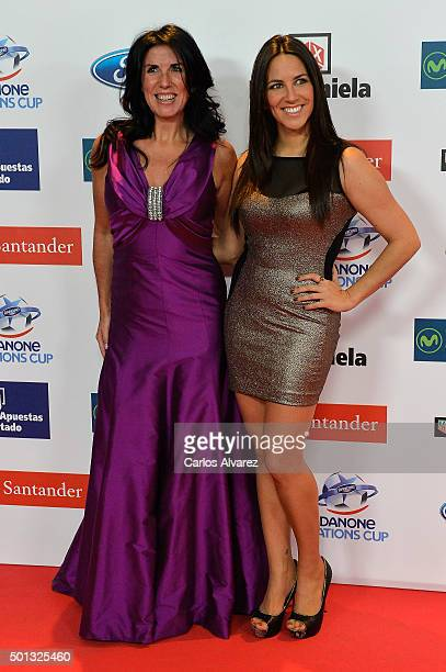 Cristina Cubero and Irene Junquera attend the 2015 'AS Del Deporte' Awards at The Westin Palace Hotel on December 14 2015 in Madrid Spain