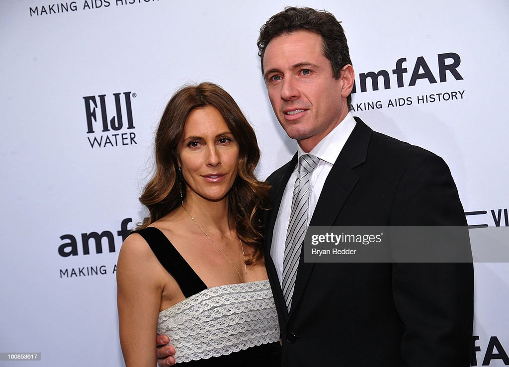 Cristina Cuomo and Chris Cuomo attend the amfAR New York Gala to kick off Fall 2013 Fashion Week at Cipriani Wall Street on February 6, 2013 in New York City.