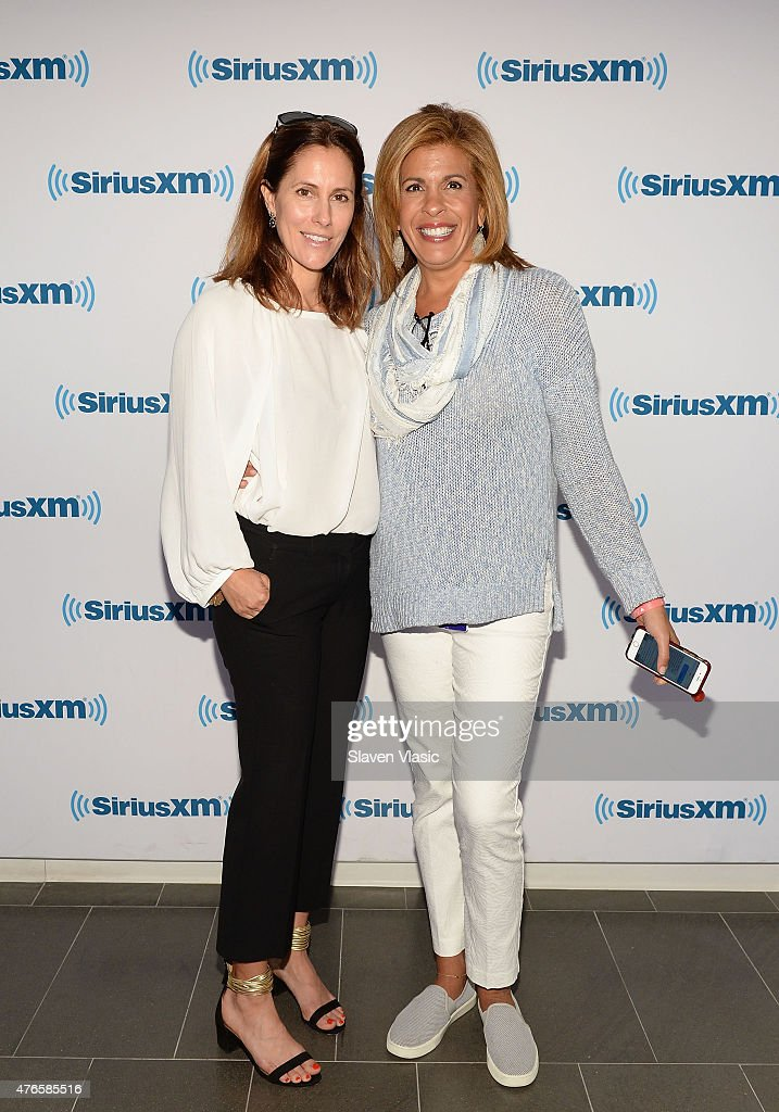 Cristina Cuomo and Hoda Kotb visit SiriusXM Studios on June 10 2015 in New York City
