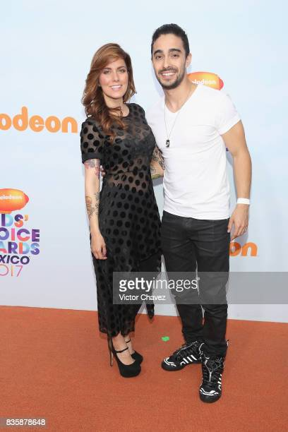 Cristina Dacosta and Juan Bertheau attend the Nickelodeon Kids' Choice Awards Mexico 2017 at Auditorio Nacional on August 19 2017 in Mexico City...
