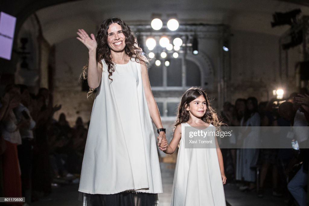 Cristina Fernandez of 'Little Creative Factory' walks the runway during the Barcelona 080 Fashion Week June 26, 2017 in Barcelona, Spain.