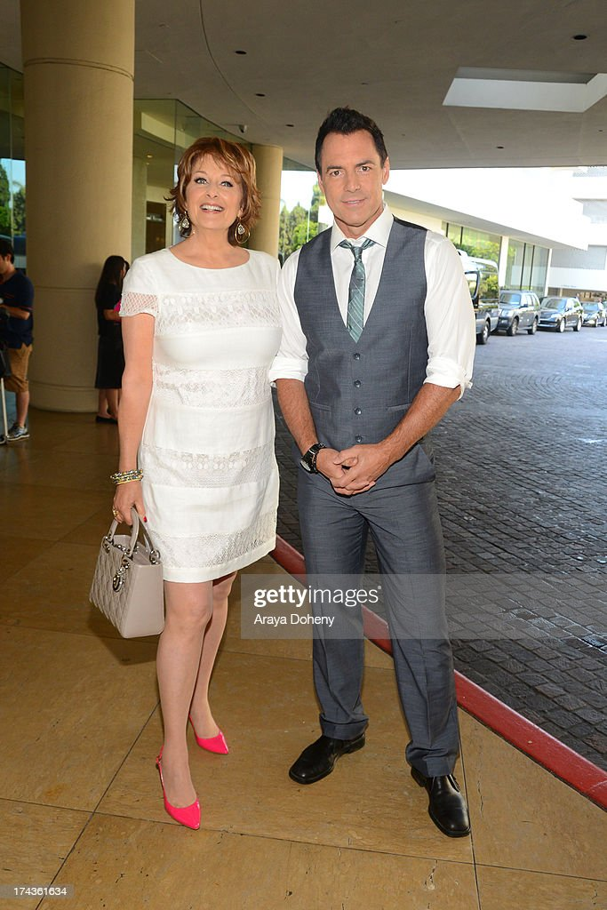 Cristina Ferrare and <a gi-track='captionPersonalityLinkClicked' href=/galleries/search?phrase=Mark+Steines&family=editorial&specificpeople=798659 ng-click='$event.stopPropagation()'>Mark Steines</a> arrives at the Television Critic Association's Summer press tour - Hallmark Channel & Hallmark Movie Channel party at The Beverly Hilton Hotel on July 24, 2013 in Beverly Hills, California.