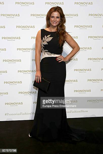 Cristina Ferreira poses during Pronovias bridal collection during the 'Barcelona Bridal Fashion Week 2016' at Italian Pavilion of Fira Barcelona on...