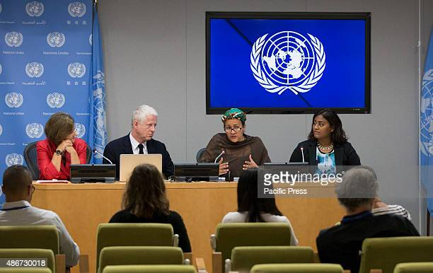 Cristina Gallach Amina J Mohammed NGO Guest along with Richard Curtis filmmaker and founder of Project Everyone which aims to share the Sustainable...