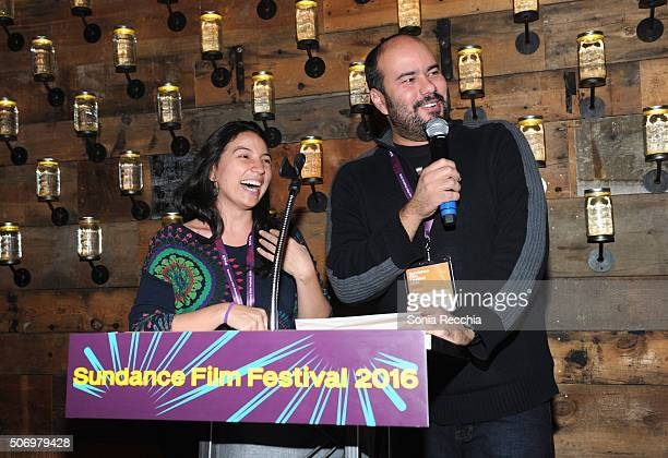 Cristina Gallego and Cirro Guerra attend the Alfred P Sloan Foundation Reception and Prize Announcement during the 2016 Sundance Film Festival at...