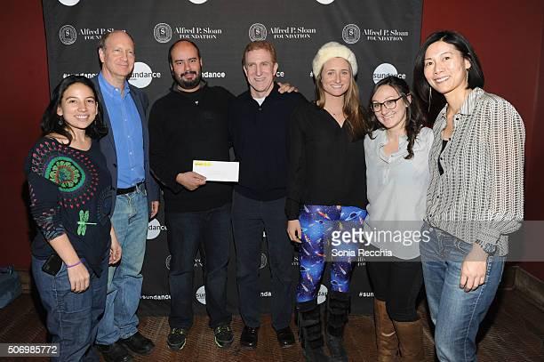 Cristina Gallego Doron Weber Cirro Guerra Mark Levinson Darcy Brislin Dyana Winkler and Ann Lai attend the Alfred P Sloan Foundation Reception and...