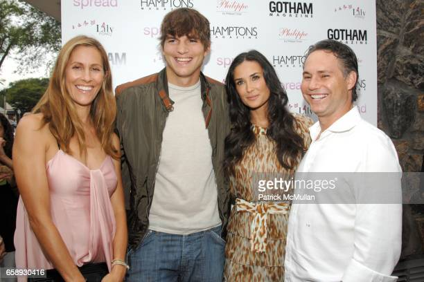 Cristina Greeven Cuomo Ashton Kutcher Demi Moore and Jason Binn attend 'SPREAD' Premiere with GOTHAM HAMPTONS magazines at UA East Hampton Theater on...