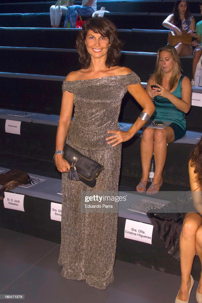 Cristina Higueras attends a fashion show during the Mercedes Benz Fashion Week Madrid Spring/Summer 2014 on September 13, 2013 in Madrid, Spain.