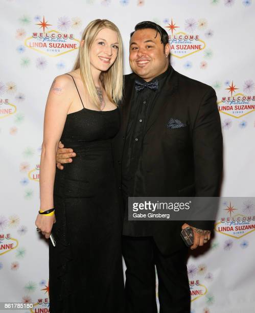 Cristina Maloney and her husband singer Ryan Whyte Maloney attend the debut of 'Linda Suzanne Sings Divas of Pop' at the South Point Hotel Casino on...