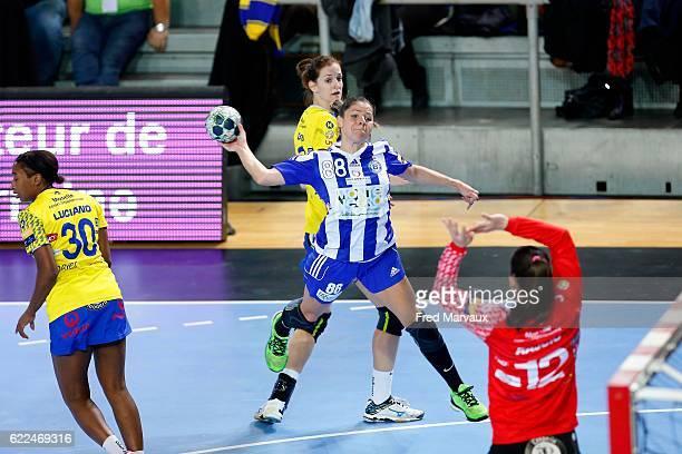 Cristina Neagu of Podgorica during the EHF Womens Champions League match between Metz and Podgorica Buducnost November 11 2016 in Metz France