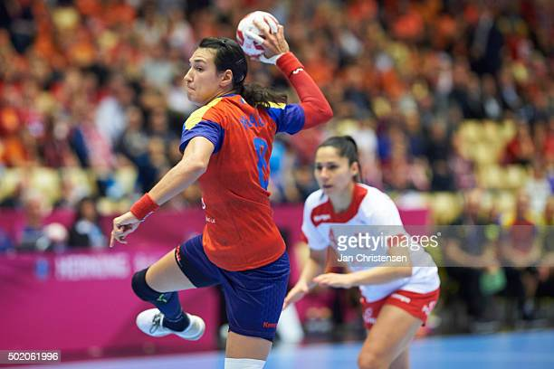 Cristina Neagu of Romania in action during the 22nd IHF Women's Handball World Championship place 5/6 match between Russia and Denmark in Jyske Bank...