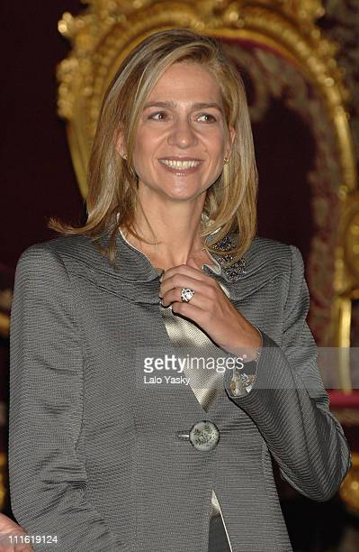 Cristina of Spain during Spain's National Day Military Parade October 12 2006 at Paseo de la Castellana in Madrid Madrid Spain