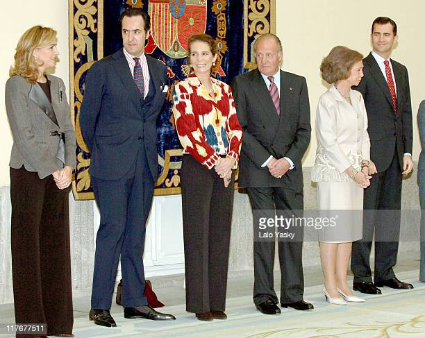 Cristina of Spain Jaime de Marichalar Elena of Spain King Juan Carlos Queen Sofia and Prince Felipe