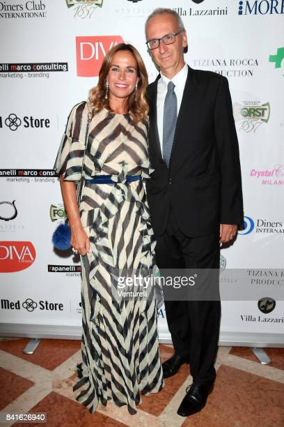 Cristina Parodi and Angelo Ascoli attend Diva e Donna Party at Centurion Palace during the 74th Venice Film Festival on September 1 2017 in Venice...