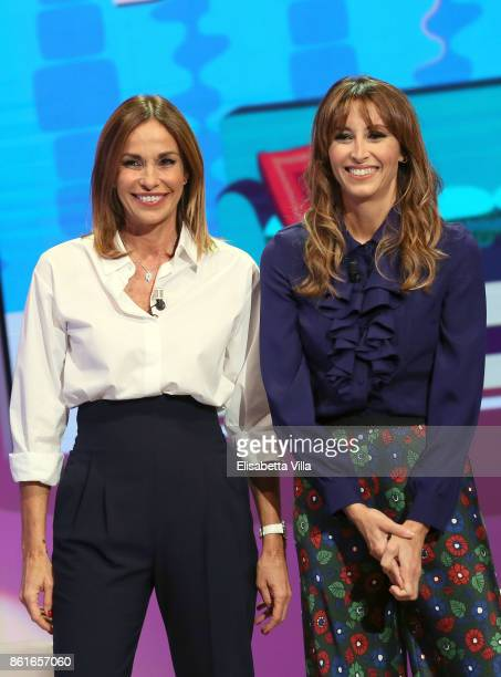 Cristina Parodi and Benedetta Parodi attend Domenica In TV Show on October 15 2017 in Rome Italy
