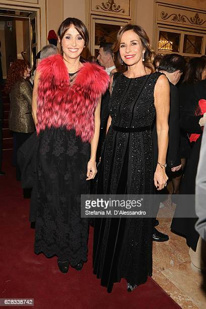 Cristina Parodi and Benedetta Parodi attend the Teatro alla Scala season 2016/17 opening at Teatro Alla Scala on December 7 2016 in Milan Italy
