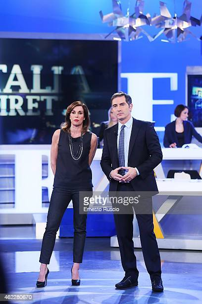 Cristina Parodi and Marco Liorni attend the 'La Vita In Diretta' TV show at Studi Rai Via Teulada on January 26 2015 in Rome Italy