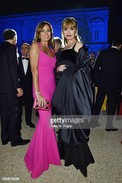 Cristina Parodi and Milly Carlucci attend Tiffany Co celebration of the opening of its new store in Rome at at Villa Aurelia on May 11 2016 in Rome...