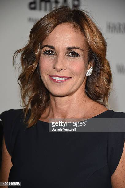 Cristina Parodi arrives at amfAR Milano 2015 at La Permanente on September 26 2015 in Milan Italy