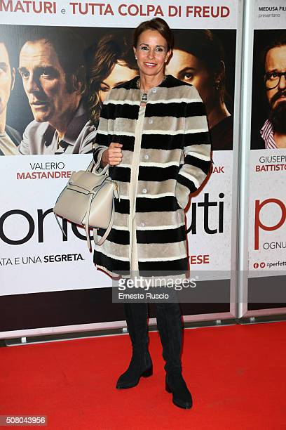 Cristina Parodi attends a charity premiere for 'Perfetti Sconosciuti' at Auditorium Della Conciliazione on February 2 2016 in Rome Italy