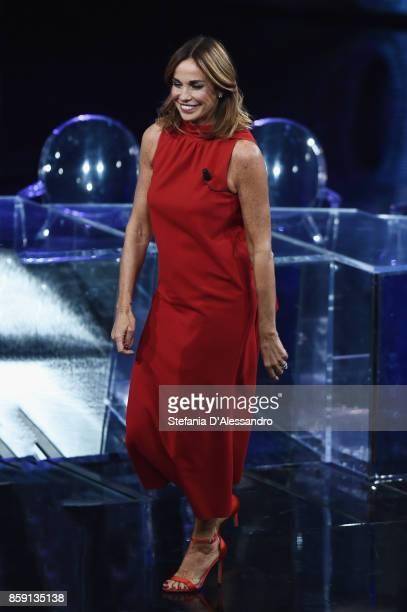 Cristina Parodi attends 'Che Tempo Che Fa' Tv Show at Rai Studios on October 8 2017 in Rome Italy