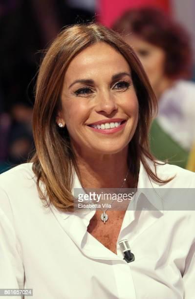 Cristina Parodi attends Domenica In TV Show on October 15 2017 in Rome Italy