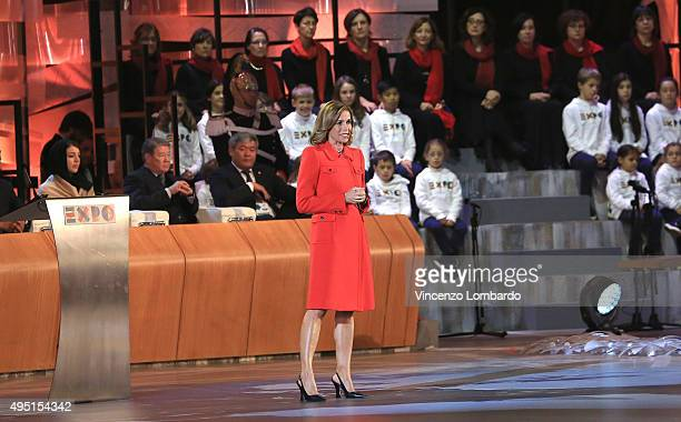 Cristina Parodi attends the Closing Ceremony Expo 2015 on October 31 2015 in Milan Italy The expo has been global showcase in the city for past six...
