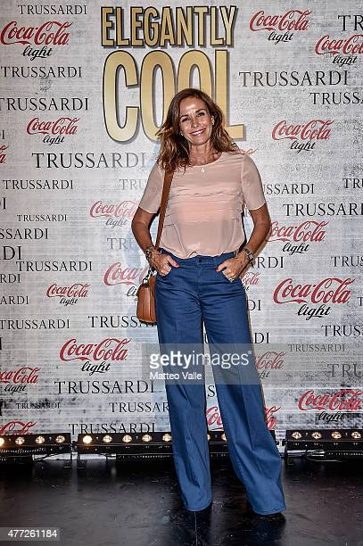 Cristina Parodi attends the 'Elegantly Cool Party' CocaCola Trussardi at Magazzini Generali on June 15 2015 in Milan Italy