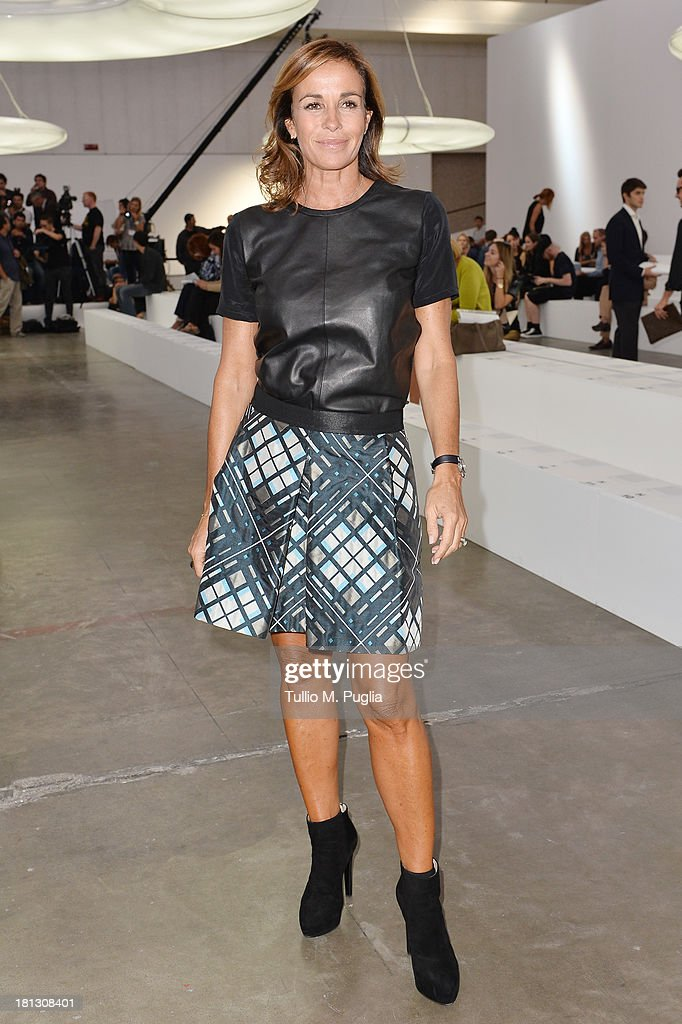 Cristina Parodi attends the Iceberg show as a part of Milan Fashion Week Womenswear Spring/Summer 2014 on September 20, 2013 in Milan, Italy.