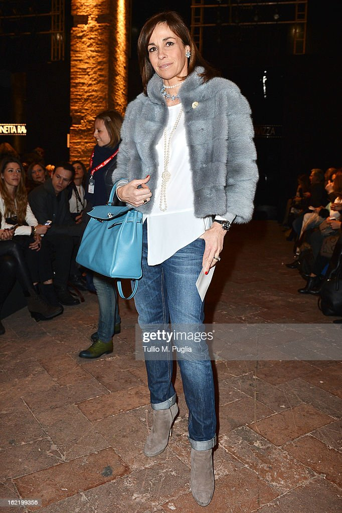 Cristina Parodi attends the Simonetta Ravizza fashion show as part of Milan Fashion Week Womenswear Fall/Winter 2013/14 on February 20, 2013 in Milan, Italy.