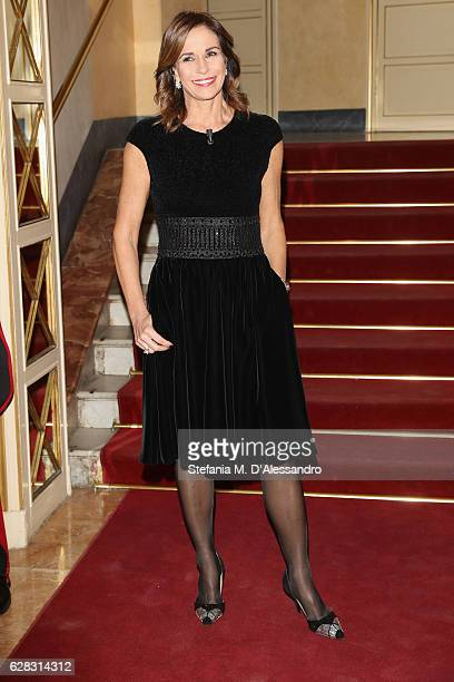 Cristina Parodi attends the Teatro alla Scala season 2016/17 opening at Teatro Alla Scala on December 7 2016 in Milan Italy