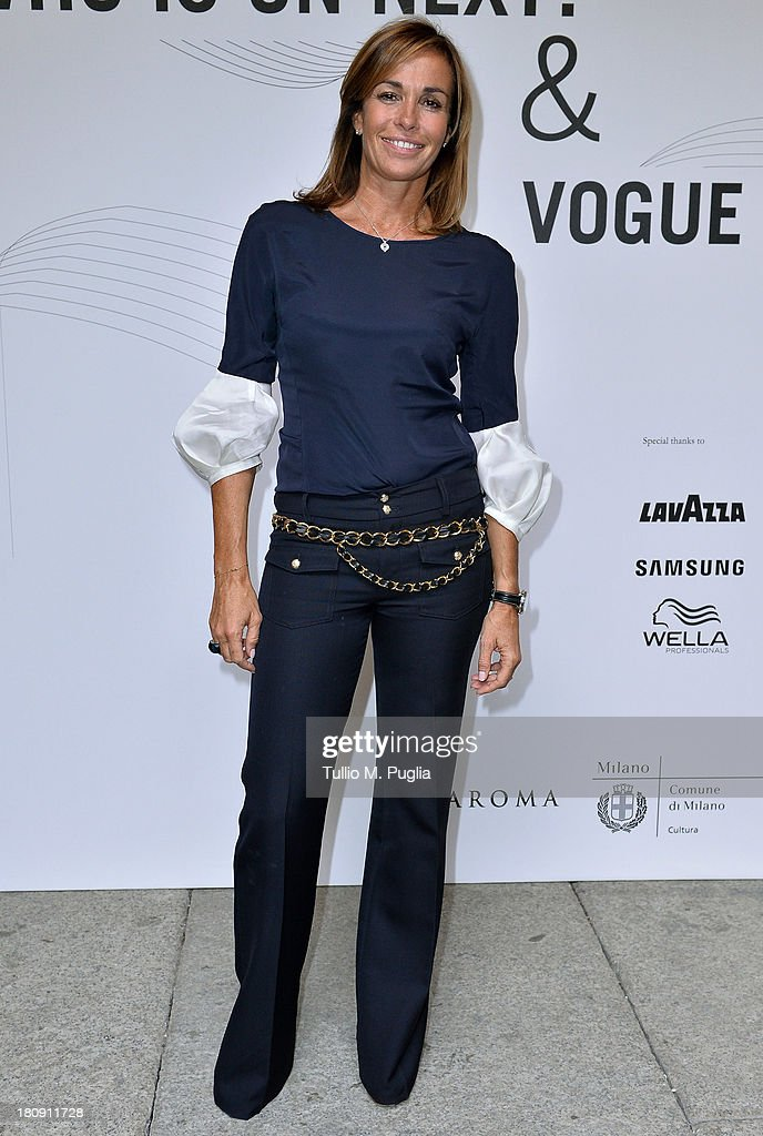 Cristina Parodi attends 'Who is On Next? & Vogue Talents' event at Palazzo Morando on September 17, 2013 in Milan, Italy.