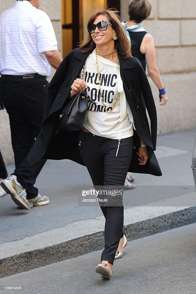 Cristina Parodi is see on September 20, 2011 in Milan, Italy.