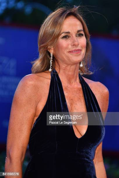 Cristina Parodi walks the red carpet ahead of the 'Human Flow' screening during the 74th Venice Film Festival at Sala Grande on September 1 2017 in...