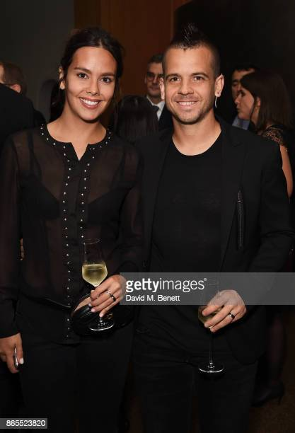 Cristina Pedroche and David Munoz attend 10th anniversary of Alain Ducasse at The Dorchester on October 23 2017 in London England