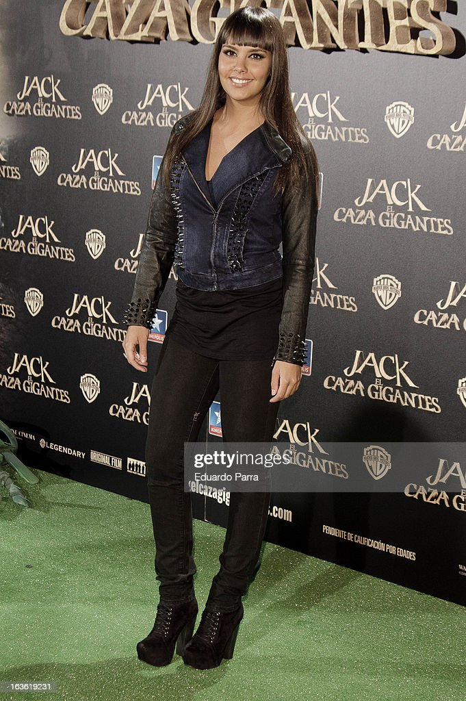 Cristina Pedroche attends 'Jack el Caza Gigantes' premiere photocall at Kinepolis cinema on March 13, 2013 in Madrid, Spain.