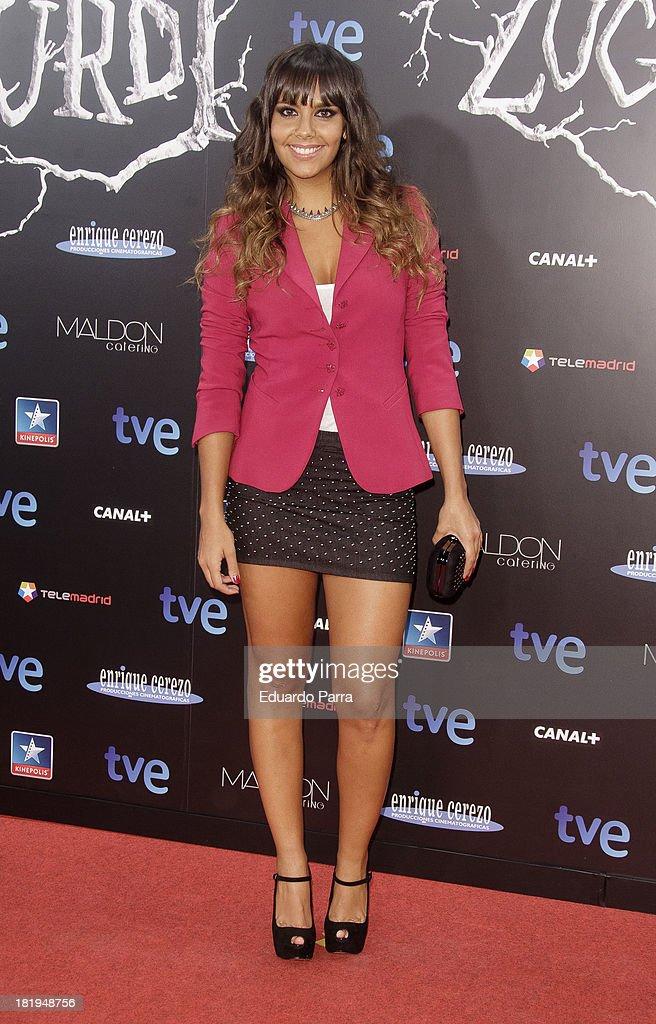 Cristina Pedroche attends 'Las brujas de Zugarramurdi' premiere photocall at Kinepolis Cinema on September 26, 2013 in Madrid, Spain.