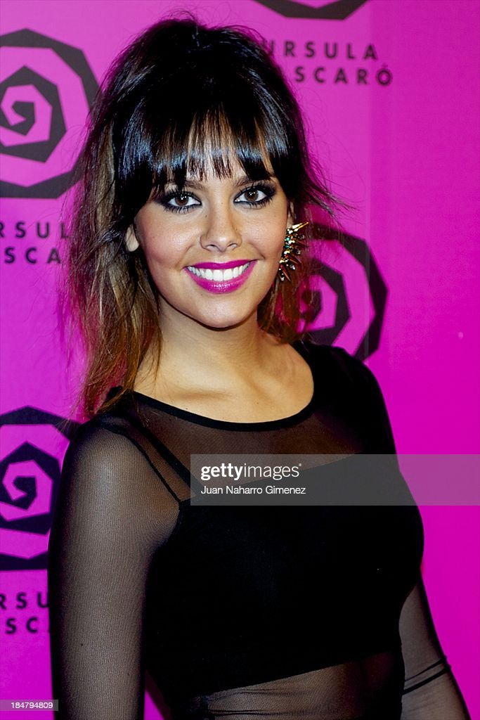 Cristina Pedroche attends Ursula Mascaro opening store at Ursula Mascaro store on October 16, 2013 in Madrid, Spain.