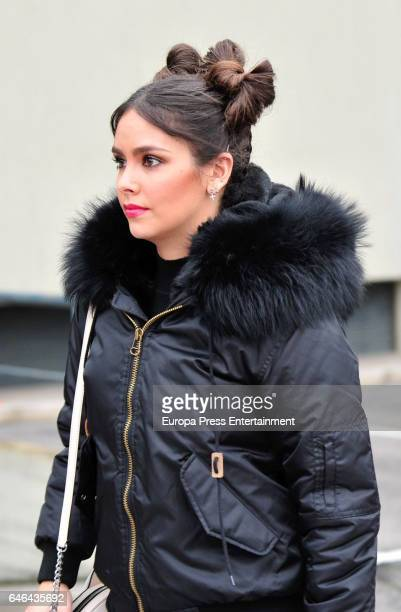 Cristina Pedroche is seen on February 14 2017 in Madrid Spain