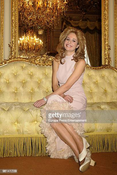 Cristina Pena as Carmen Martinez Bordiu at the tv movie 'Alfonso de Borbon y Dampierre The damned Prince' on March 30 2010 in Madrid Spain