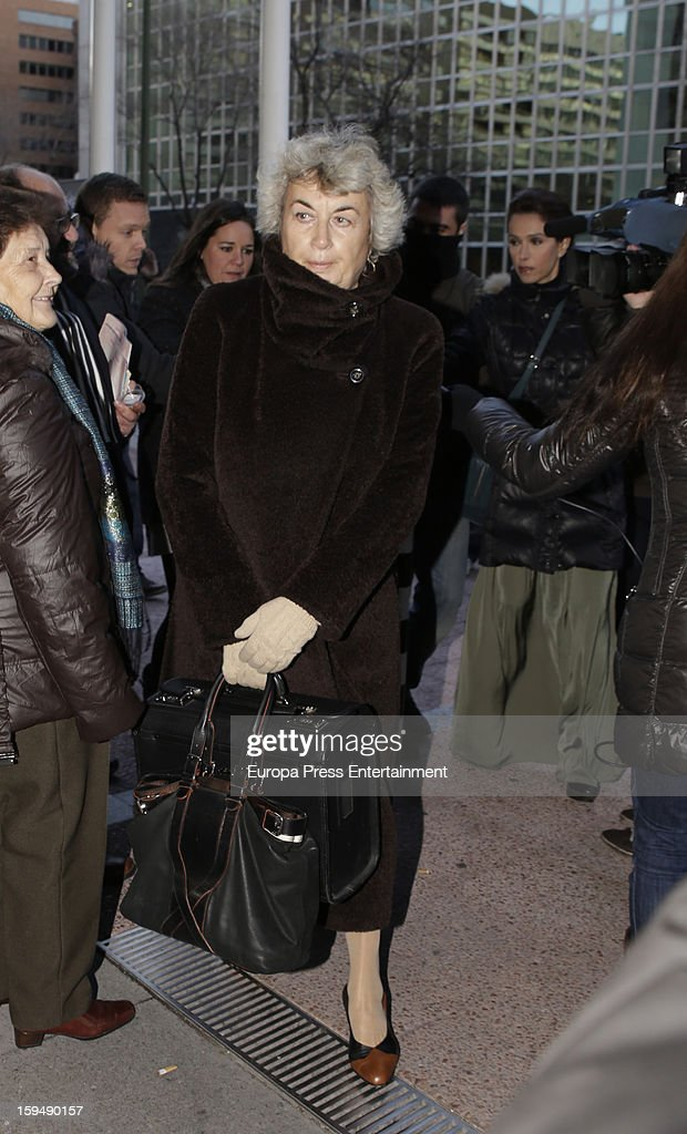 Cristina Pena attends court on January 14, 2013 in Madrid, Spain. The bullfighter Francisco Rivera and ex wife Duchess of Montoro Eugenia Martinez de Irujo are fighting for the custody of their daughter.